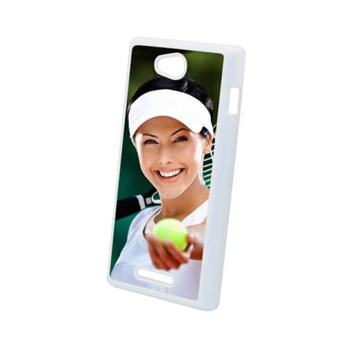 Sony Xperia C S39H fehér műanyag tok szublimáláshoz, préseléshez