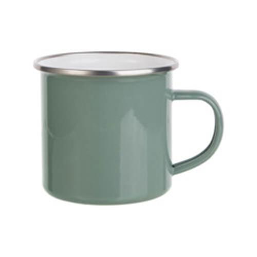 Szublimálható 360 ml-es acél bögre - szürkés zöld