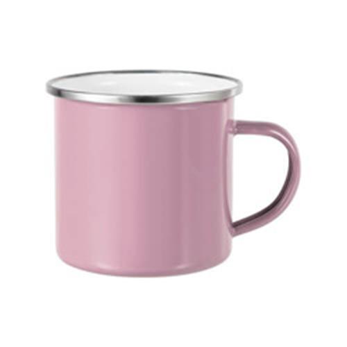 Szublimálható 360 ml-es acél bögre - rózsaszín