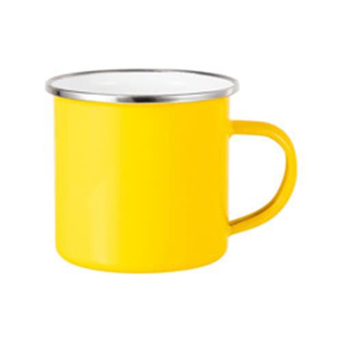 Szublimálható 360 ml-es acél bögre - citromsárga