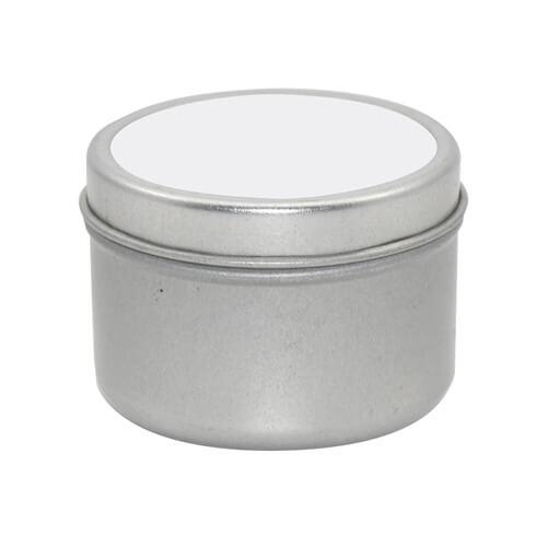 Illatgyertya fémdobozban - kicsi - szublimálásához, préseléshez
