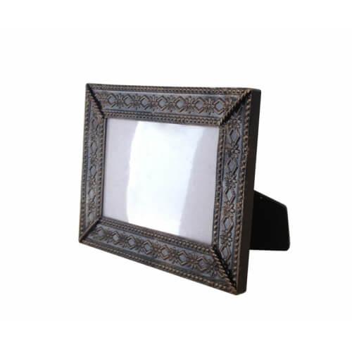 19 x 14 cm-es bronzírozott fémkeret szublimáláshoz, préseléshez