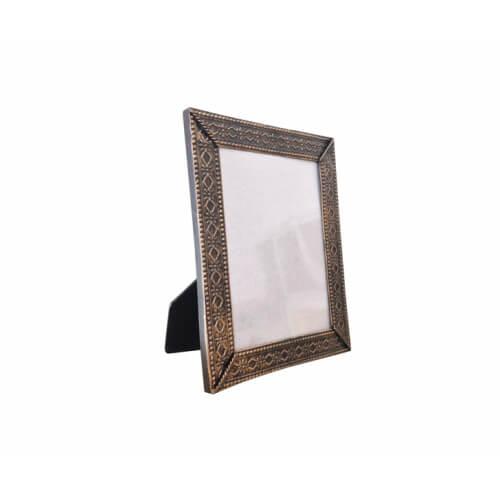 23,5 x 19 cm-es bronzírozott fémkeret szublimáláshoz, préseléshez