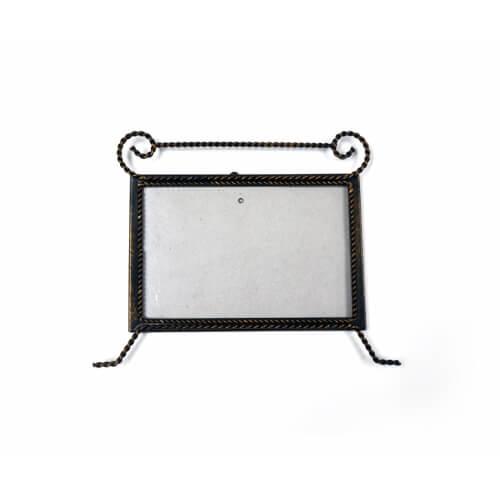 20 x 15 cm-es bronzírozott fémkeret szublimáláshoz, préseléshez