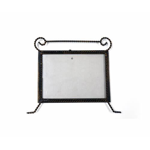 22 x 18 cm-es bronzírozott fémkeret szublimáláshoz, préseléshez