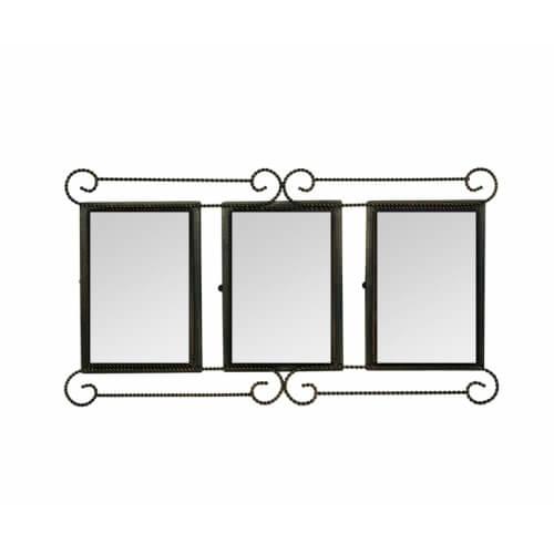 34 x 21 cm-es, három ablakos bronzírozott fémkeret szublimáláshoz, préseléshez