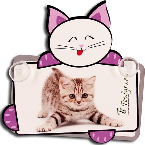 Szublimálható műanyag lemez tapadókoronggal - cica