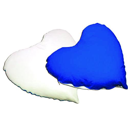 Szublimálható 26 x 20 cm-es szív alakú mini huzat - akasztóval - kék