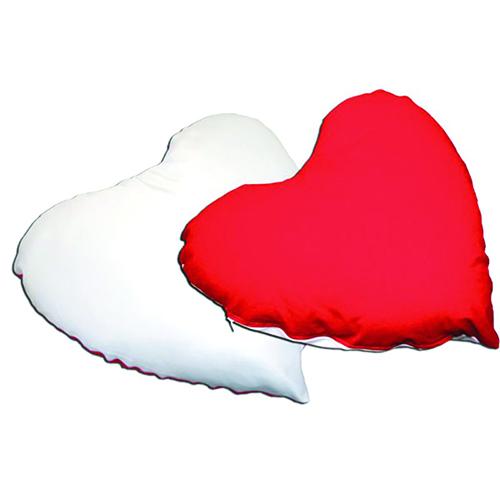 Szublimálható 26 x 20 cm-es szív alakú mini huzat - akasztóval - piros