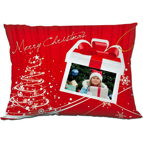 Szublimálható 55 x 40 cm kétszínű szaténnal bevont párnahuzat - Boldog Karácsonyt