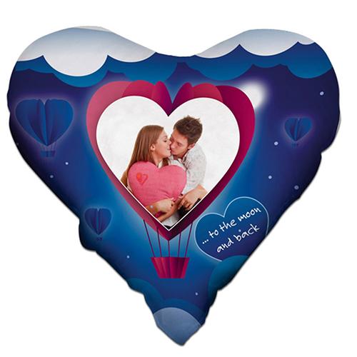 Szublimálható 38 x 38 cm kétszínű szaténnal bevont szív alakú párnahuzat - Szív