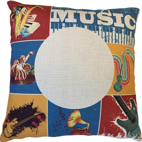 Szublimálható 38 x 38 cm vászon párnahuzat - Old Music