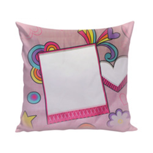 Szublimálható 38 x 38 cm kétszínű szaténnal bevont párnahuzat - Rozsaszín