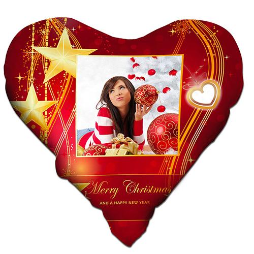 Szublimálható kétszínű szatén kandalló alakú burkolat - Boldog karácsonyt
