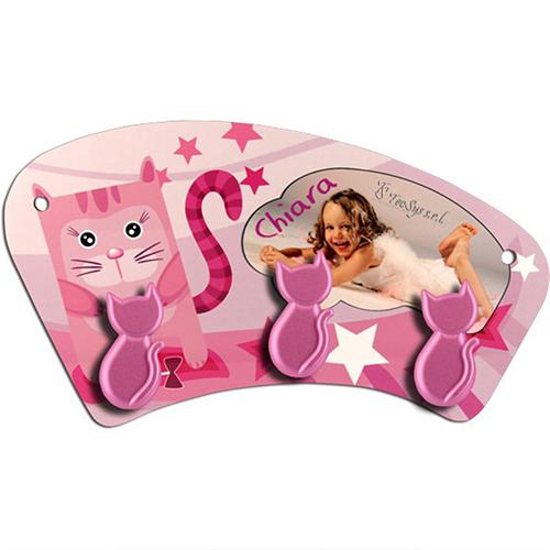 Szublimálható MDF mini függő - rózsaszín cicák