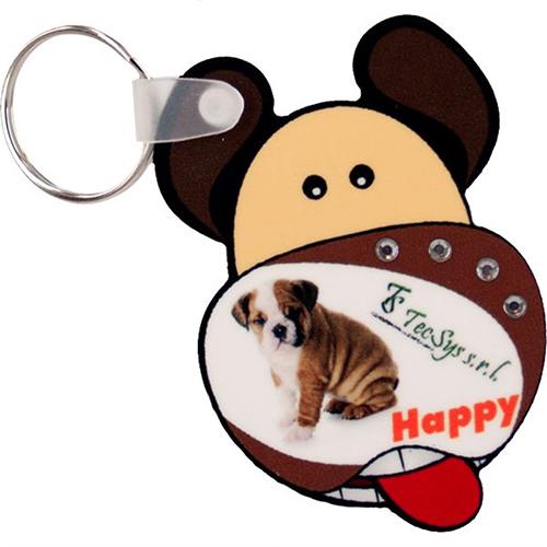 Szublimálható műanyag kulcstartó - kutya