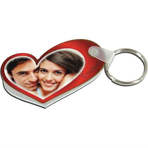 Szublimálható műanyag kulcstartó - pici szív