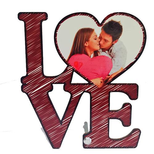 Szublimálható MDF álló képkeret - 17,6 x 20 cm - Love