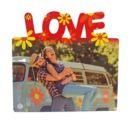 Szublimálható MDF álló képkeret - 22 x 20 cm - Love - vízszintes