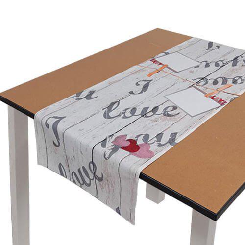 Szublimálható 40 x 120 cm poliészter terítő - Szerelem