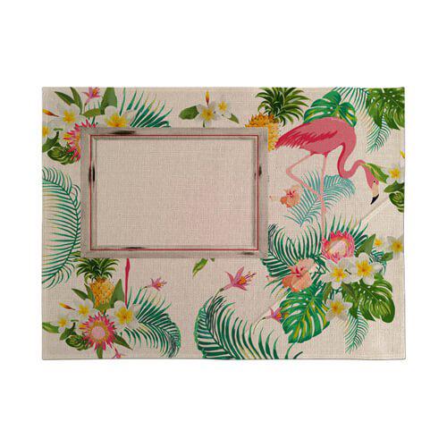 Szublimálható vászon asztalterítő mat - Flamingó