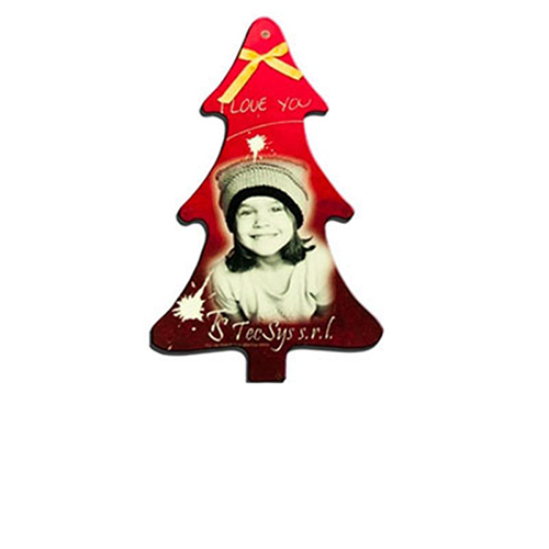 Szublimálható Műanyag Karácsonyfa medál