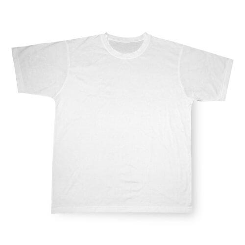 Fehér Cotton-Touch póló, 152-es, szublimáláshoz, préseléshez