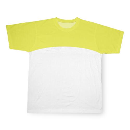 Sárga, szublimálható Cotton-Touch sport póló, XXL-es