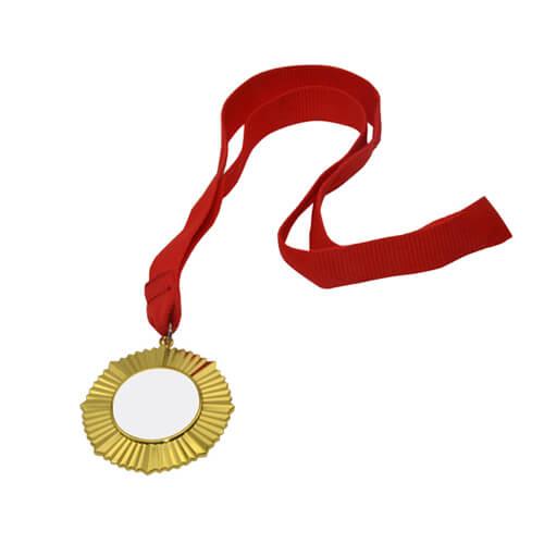 6 cm-es átmérőjű aranyérem 3,2 cm-es nyomtatási felülettel, szublimáláshoz, préseléshez