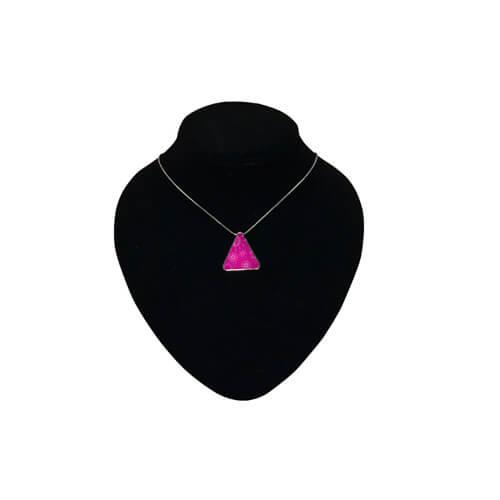 Fémlánc háromszög alakú medállal, szublimáláshoz, préseléshez
