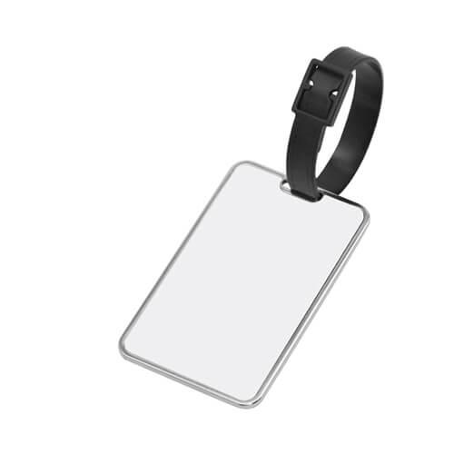 5 x 8 cm-es fém bőröndcímke szublimáláshoz, préseléshez