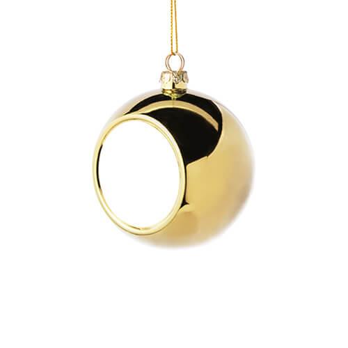 6 cm átmérőjű karácsonyfa gömb szublimáláshoz - arany színű