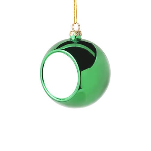 6 cm átmérőjű karácsonyfa gömb szublimáláshoz - zöld