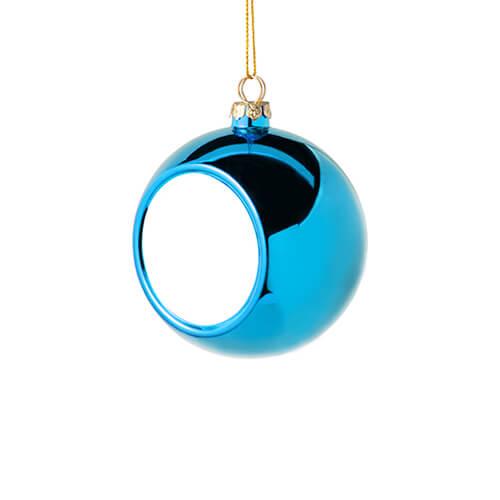 6 cm átmérőjű karácsonyfa gömb szublimáláshoz - világoskék