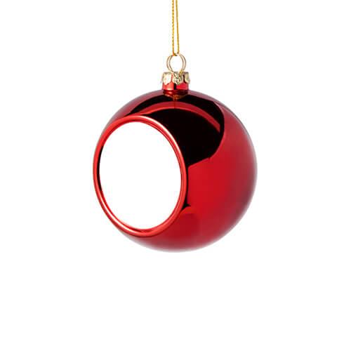 6 cm átmérőjű karácsonyfa gömb szublimáláshoz - piros