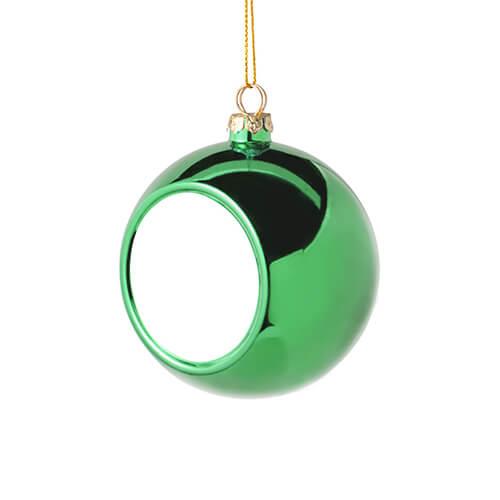 8 cm átmérőjű karácsonyfa gömb szublimáláshoz - zöld