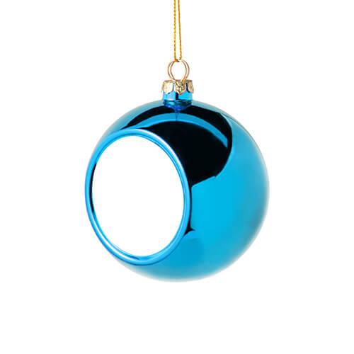 8 cm átmérőjű karácsonyfa gömb szublimáláshoz - világoskék