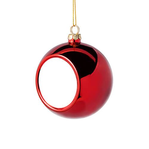 8 cm átmérőjű karácsonyfa gömb szublimáláshoz - piros