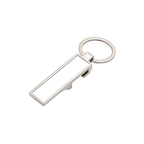 Szublimálható fém kulcstartó - sörnyitó - téglalap