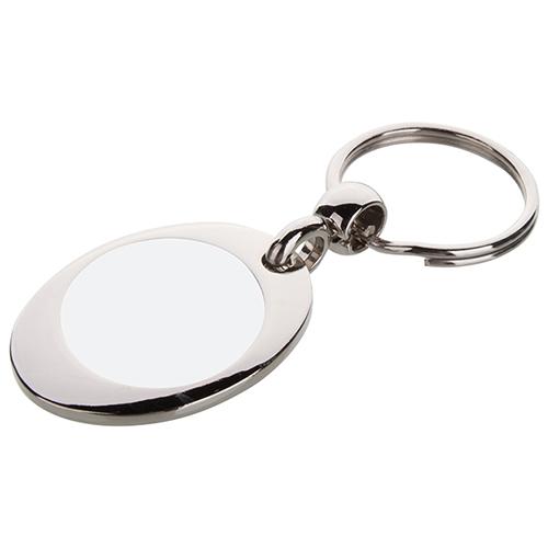 Szublimálható fém kulcstartó - Bevásárlókocsi érme