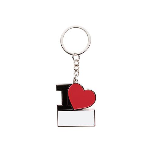 Szublimálható fém kulcstartó - Szeretlek