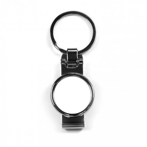 Kör alakú fém kulcstartó szublimációs nyomtatáshoz, préseléshez