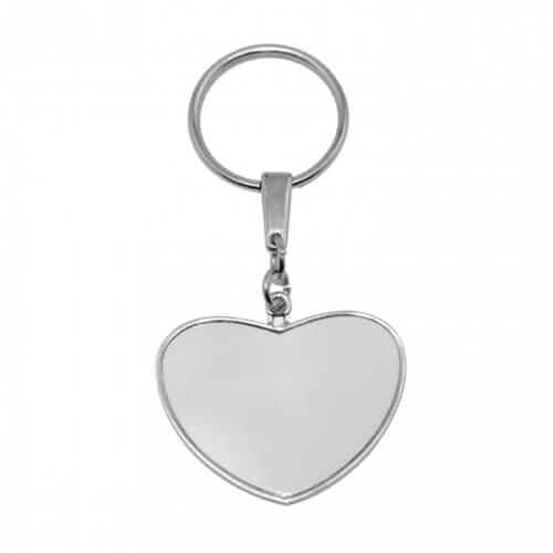 Szív alakú fém kulcstartó szublimációs nyomtatáshoz, préseléshez