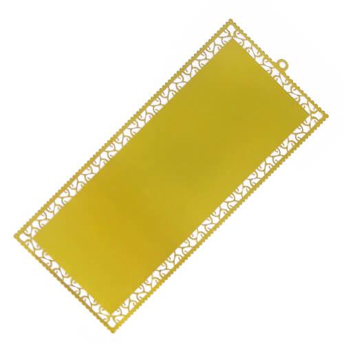 Arany színű fém könyvjelzők (10 darab) szublimáláshoz, préseléshez
