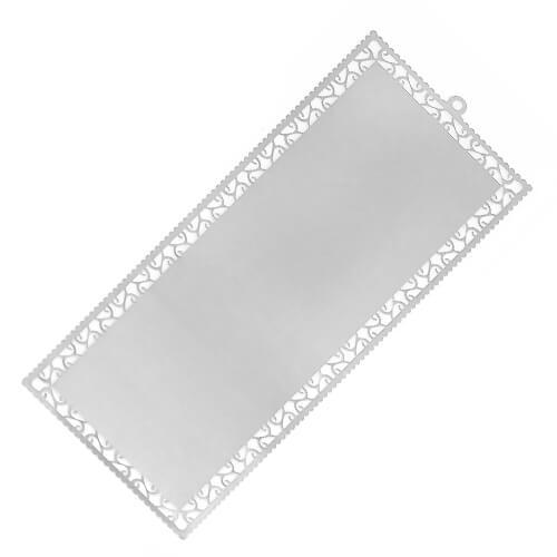 Ezüst színű fém könyvjelzők (10 darab) szublimáláshoz, préseléshez