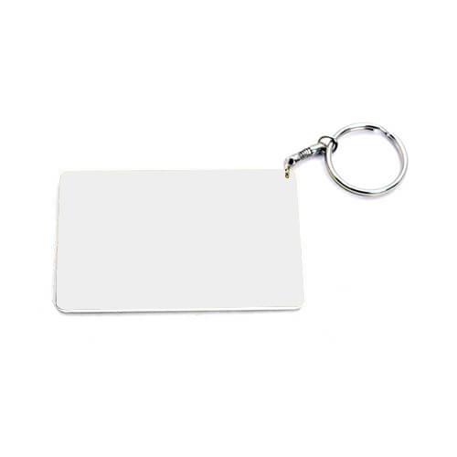 83 x 52 mm-es fehér kulcstartó szublimáláshoz, préseléshez