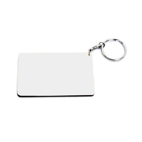 83 x 52 mm-es fehér, fekete szegélyes kulcstartó szublimáláshoz, préseléshez