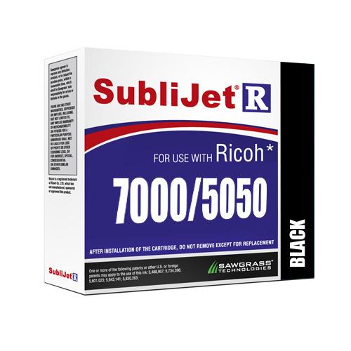 FEKETE zselés tinta, Sawgrass SubliJet-R, 68 ml Ricoh GX7000 / GX5050 nyomtatóhoz