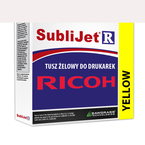 SÁRGA zselés tinta, Sawgrass SubliJet-R, 29 ml Ricoh SG3110DN/SG7100DN nyomtatóhoz