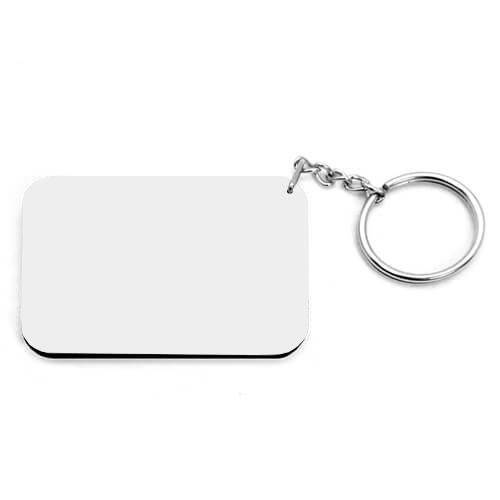 66 x 47 mm-es fehér, fekete szegélyes kulcstartó szublimáláshoz, préseléshez